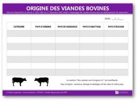 L 39 affichage de l 39 origine de la viande bovine est il for Le ramonage est il obligatoire