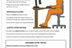 Quelles sont les informations contenues dans l'affichage des gestes et postures face à l'écran ?