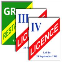 image Panneaux licences restaurants