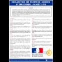 Panneau d'affichage Déclaration des droits de l'Homme et du Citoyen