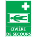"""Signalétique """"Civière de secours"""""""