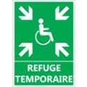"""Signalétique """"Refuge temporaire secours"""""""