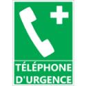 """Signalétique """"Téléphone d'urgence"""""""