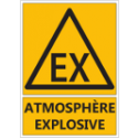 """Signalétique """"Danger atmosphère explosive"""""""