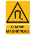 """Signalétique """"Danger champ magnétique"""""""
