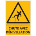 """Signalétique """"Danger chute avec dénivellation"""""""