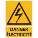 """Signalétique """"Danger électricité"""""""