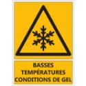 """Signalétique """"Danger basses températures - gel"""""""