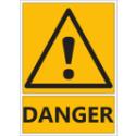 """Signalétique """"Danger général"""""""