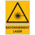 """Signalétique """"Danger rayonnement laser"""""""
