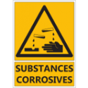 "Signalétique ""Danger substances corrosives"""