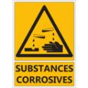 """Signalétique """"Danger substances corrosives"""""""