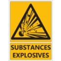 """Signalétique """"Danger substances explosives"""""""