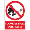 """Signalétique """"Flammes nues interdites"""""""