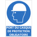 "Signalétique ""Port du casque de protection obligatoire"""