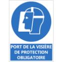 """Signalétique """"Port de la visière de protection obligatoire"""""""
