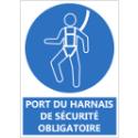 """Signalétique """"Port du harnais de sécurité obligatoire"""""""