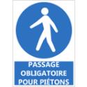 """Signalétique """"Passage obligatoire pour piétons"""""""