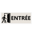 "Signalétique ""Entrée"" - Format rectangle"