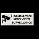 """Signalétique """"Vidéosurveillance"""" - Format rectangle"""