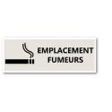 "Signalétique ""Emplacement fumeurs"" - Format rectangle"