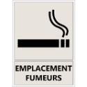 """Signalétique """"Emplacement fumeurs"""""""