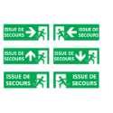 "Signalétique ""Issues de secours"" - Format rectangle"