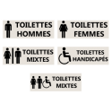 "Signalétique ""Toilettes"" - Format rectangle"