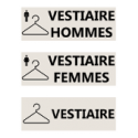 "Signalétique ""Vestiaire"" - Format rectangle"