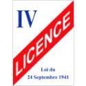 Panneau d'affichage Licence IV