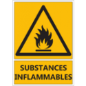 "Signalétique ""Danger substances inflammables"""