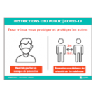 Illustration de Affichage Restrictions Lieu Public | COVID-19