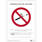 Illustration de Affichage Interdiction de Vapoter - Panneau officiel - Étiquette à coller