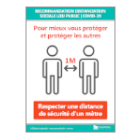 Illustration de Affichage Recommandation Distanciation Sociale Lieu Public | COVID-19